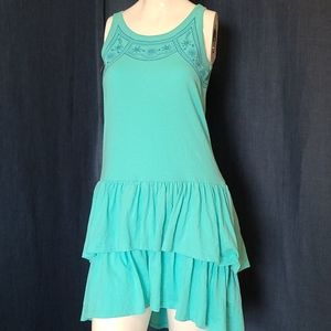 GAP KIDS Turquoise Ruffle Knit Dress XXL 14-16